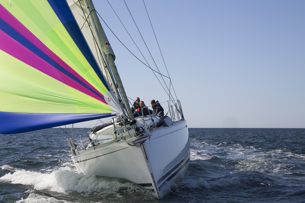 yacht sailing downwind with Furlex furler
