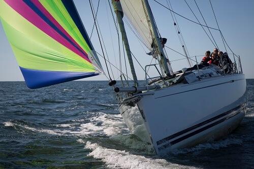 yacht sailing downwind with Furlex furler